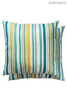 Harlequin Blue Rush Outdoor Cushion