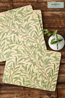 Set of 4 Morris & Co. by Pimpernel Willow Bough Green Placemats
