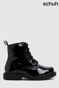 Schuh Black Creator Lace-Up Boots