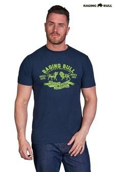 Raging Bull Navy Grass Roots T-Shirt