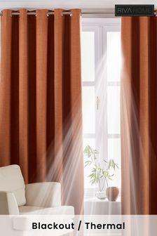 Riva Home Orange Twilight Curtains