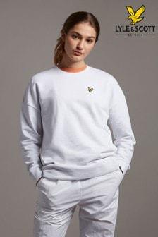 Lyle & Scott White Oversized Sweatshirt