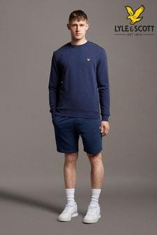 Lyle & Scott Blue Sweat Shorts With Contrast