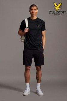 Lyle & Scott Black Sweat Shorts With Contrast