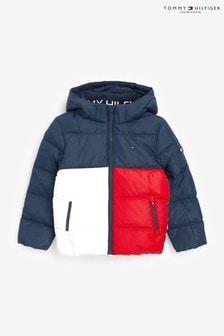 Темно-синяя куртка в стиле колор блок Tommy Hilfiger