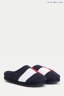 Tommy Hilfiger Blue Flag Home Slippers (A60416)   $62