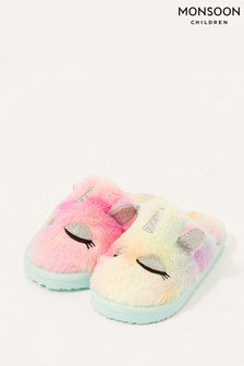Monsoon Pink Unicorn Ombré Slippers