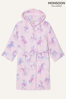 Monsoon Pink Ada Unicorn Robe
