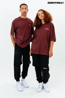 Continu8 Unisex Burgundy Oversized T-Shirt