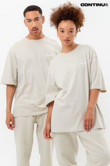 Continu8 Beige Oversized T-Shirt