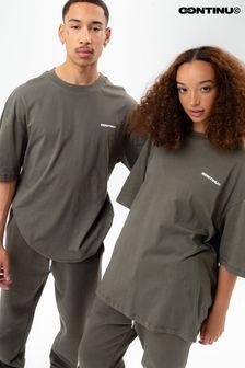 Continu8 Unisex Khaki Oversized T-Shirt