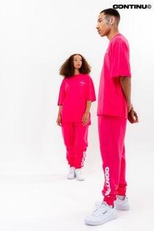 Continu8 Pink Oversized T-Shirt