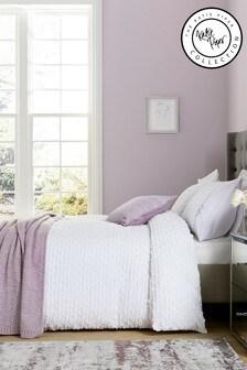 Katie Piper White Calm Textured Duvet Cover and Pillowcase Set