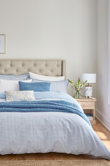 Katie Piper Blue Be Still Check Duvet Cover and Pillowcase Set