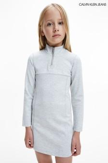فستان رمادي للصبايا Shadow من Calvin Klein Jeans