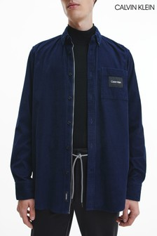 Calvin Klein Blue Regular Fit Baby Corduroy Shirt