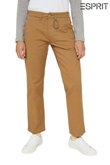 Esprit Brown Men's Straight Chino Trousers