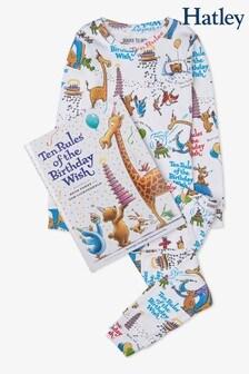 Hatley White Long Sleeve Flat Pack Pyjamas