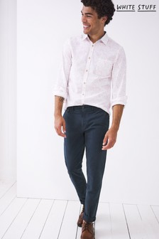 White Stuff Mens Blue Sutton Organic Chino Trousers