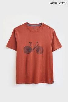 White Stuff Orange On Yer Bike Graphic T-Shirt