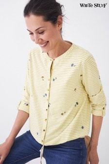 חולצת ג׳רזי עם שולי קשירה בצהוב לנשים של White Stuff