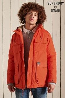 Superdry Orange Mountain Padded Parka Coat (A69468) | $138