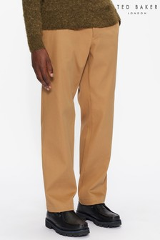 Ted Baker Brown Donati Heavy Twill Trousers