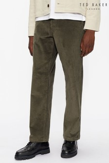 Ted Baker Green Cloudd Wide Cord Drawstring Trousers