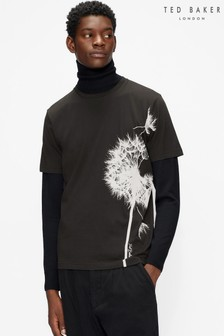 Ted Baker Black Delion Ss T-Shirt With Placement Print T-Shirt
