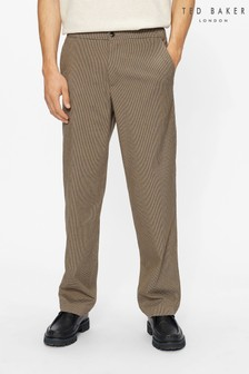 Ted Baker Brown Alioth Puppytooth Trousers
