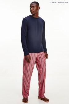 Tommy Hilfiger男裝藍色Original梭織睡衣套裝