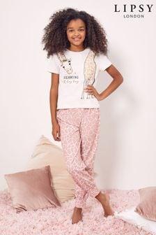 Lipsy Short Sleeve Long Leg Pyjama Set