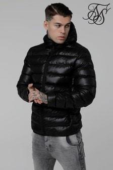 Jachetă căptușită Sik Silk cu glugă