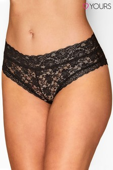 Yours Curve Lace Brazilian Brief
