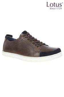 Lotus Leather Casual Lace Up Shoes