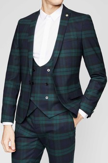 Twisted Tailor Ginger Check Suit Jacket