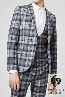 Twisted Tailor Hoffman Check Suit Jacket