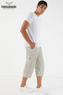 Threadbare 3/4 Linen Cotton Blend Shorts