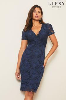 Koronkowa sukienka bodycon Lipsy z krótkim rękawem
