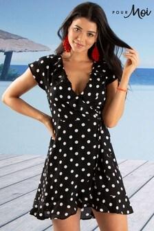 Pour Moi Hot Spots Beach Wrap Dress