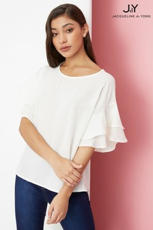 JDY Woven Short Sleeve Top