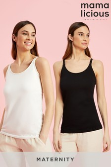 Mamalicious Maternity Nursing Tank Tops - Pack of 2