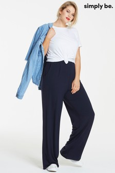 Simply Be Jersey Wide Leg Trousers