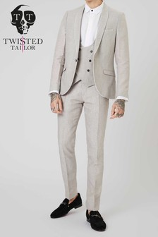 Twisted Tailor Runner Linen Suit Jacket
