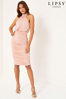 Lipsy Ruched Slinky Dress