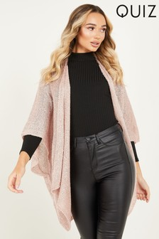Quiz Sequin Knit Cape