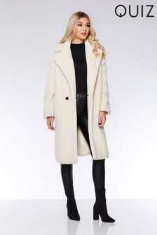Quiz Teddy Button Front Coat