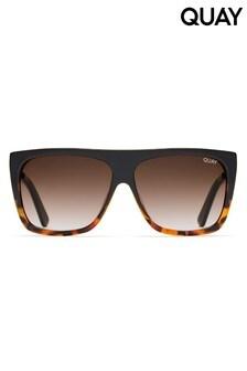 Квадратные черепаховые солнцезащитные очки Quay Australia Low