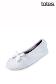 Just Sheepskin Isotoner Terry Ballet With Bow