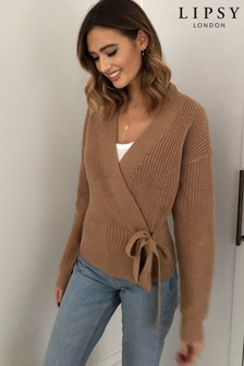 Lipsy Chunky Wrap Knitted Jumper